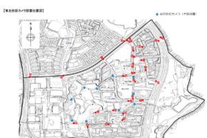 東丘校区カメラ設置位置図